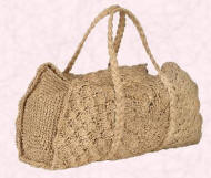 Laura Ashley Oatmeal crocheted raffia bag